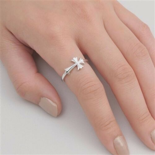 USA Seller Sideways Cross Ring Sterling Silver 925 Best Price Jewelry Selectable