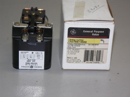 10 A 300 VAC GE CR2790E100A8 General Purpose Contact Relay 24VAC Coil DPDT