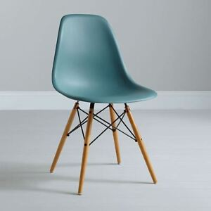 Image Is Loading Dining Chair Replica Charles Eames DSW Eiffel Ocean