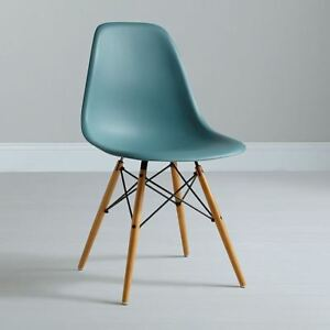 dining chair replica charles eames dsw eiffel ocean turquoise blue