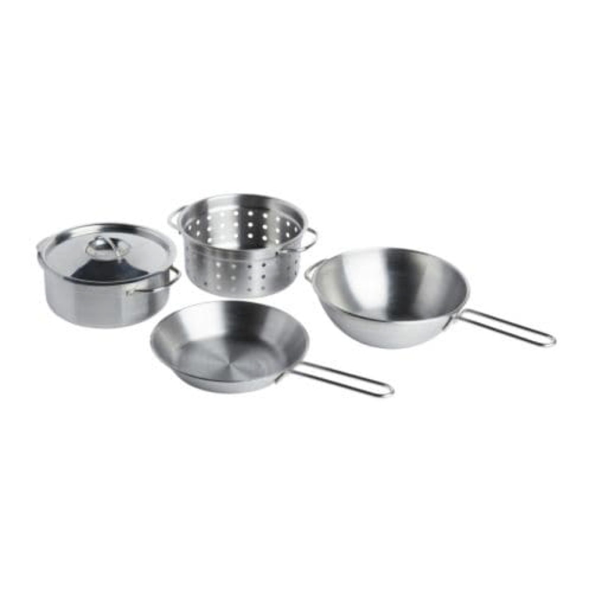 IKEA Duktig 5-Piece Toy Cookware Set Stainless Stainless Stainless Steel color 001.301.67 1d28af