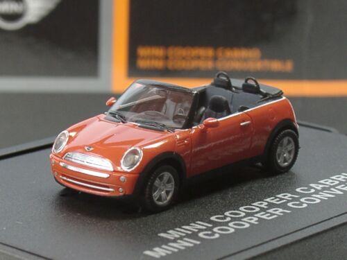 orange Herpa New Mini Cooper Cabrio Sondermodell 094-1:87