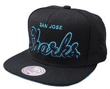 Casquette MITCHELL And NESS - SNAPBACK - San José SHARKS - Neon Script - Blue