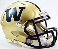 Washington Huskies Riddell College Football Revolution Speed Mini Helmet 6-pack