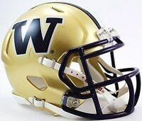 Washington Huskies Riddell College Football Revolution Speed Mini Helmet 6-pack