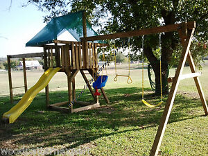 Play Fort Swing Set Paper Patterns Build Wood Play Ground In Yard