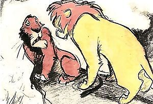 Disney-039-s-Lion-King-Thermography-Sketch-Cards