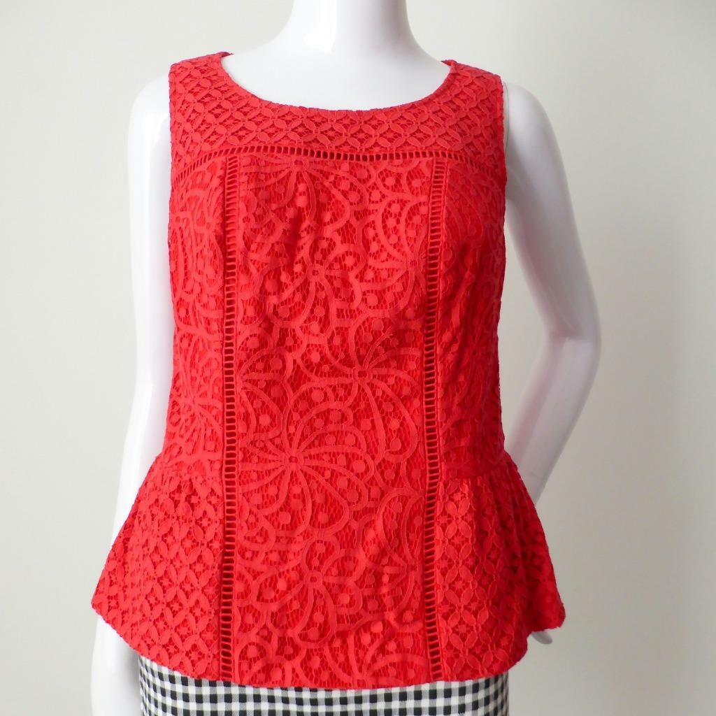 REVIEW Woherren Top NWT rrp  Größe 10 US 6  Sleeveless rot Meadow Top