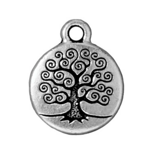 Antiqued Silver Plated Lead Free Pewter T123 TierraCast Tree of Life Drop