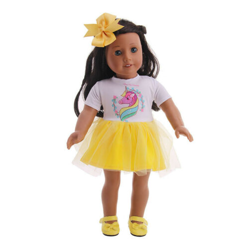 """Hot Handmade Skirt+Bow Hair Accessories Fits 18/"""" Inch American Girl Doll Clothes"""