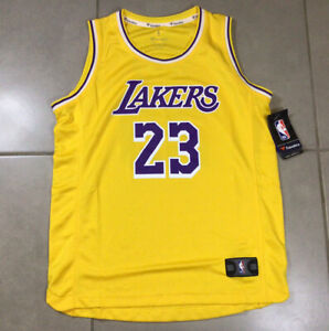 Details about NWT YOUTH LA LAKERS LeBron James Sz L 14-16 Fanatics Icon Edition Yellow Jersey