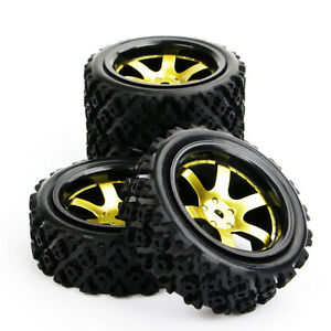 Details about 4pcs 110 RC Rally Racing Off Road Car Rubber Tyre Wheel Hub 12mm hex 6mm offset
