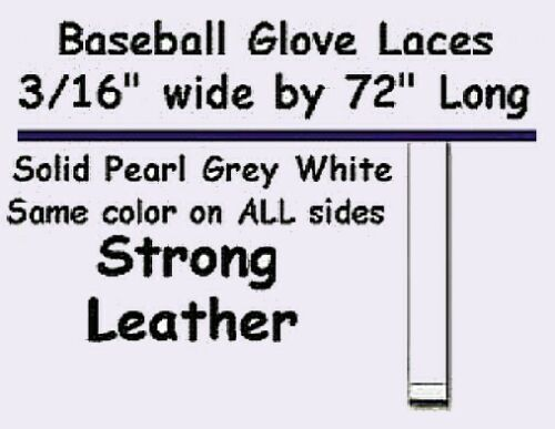 """2 Laces ~ Solid Peal white ~ BASEBALL GLOVE Repair Leather laces 3//16/""""x 72/"""""""