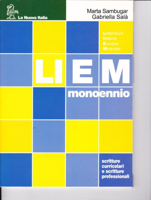 Liem mono di Sambugar Salà - 2006 - La Nuova Italia