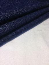 "52"" Indigo Blue Japanese Spandex Cotton Stretch Denim Woven Fabric By the Yard"