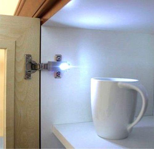 cabinet cupboard led hinge light smart sensor plastic diy wardrobe