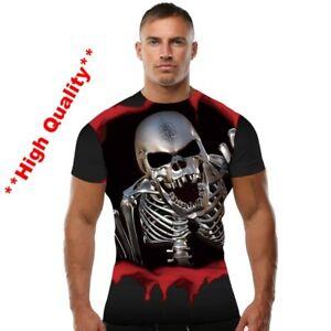 Men-Women-8XL-American-Flag-Skull-Crossbones-Halloween-Clothes-Tees-Tshirts-Tops