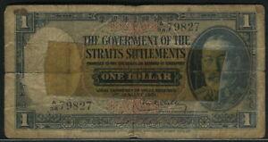 Straits-Settlements-1931-1-Dollar-P16a-Good