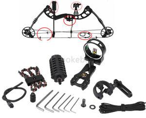 Archery-Upgrade-Compound-Bow-Sight-Stabilizer-Arrow-Rest-amp-Sling-Compound-Bow-Kit