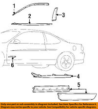Pontiac GM OEM 97-03 Grand Prix FRONT DOOR-Body Side Molding 10406146  sc 1 st  eBay & Pontiac GM OEM 97-03 Grand Prix Front Door-body Side Molding ...