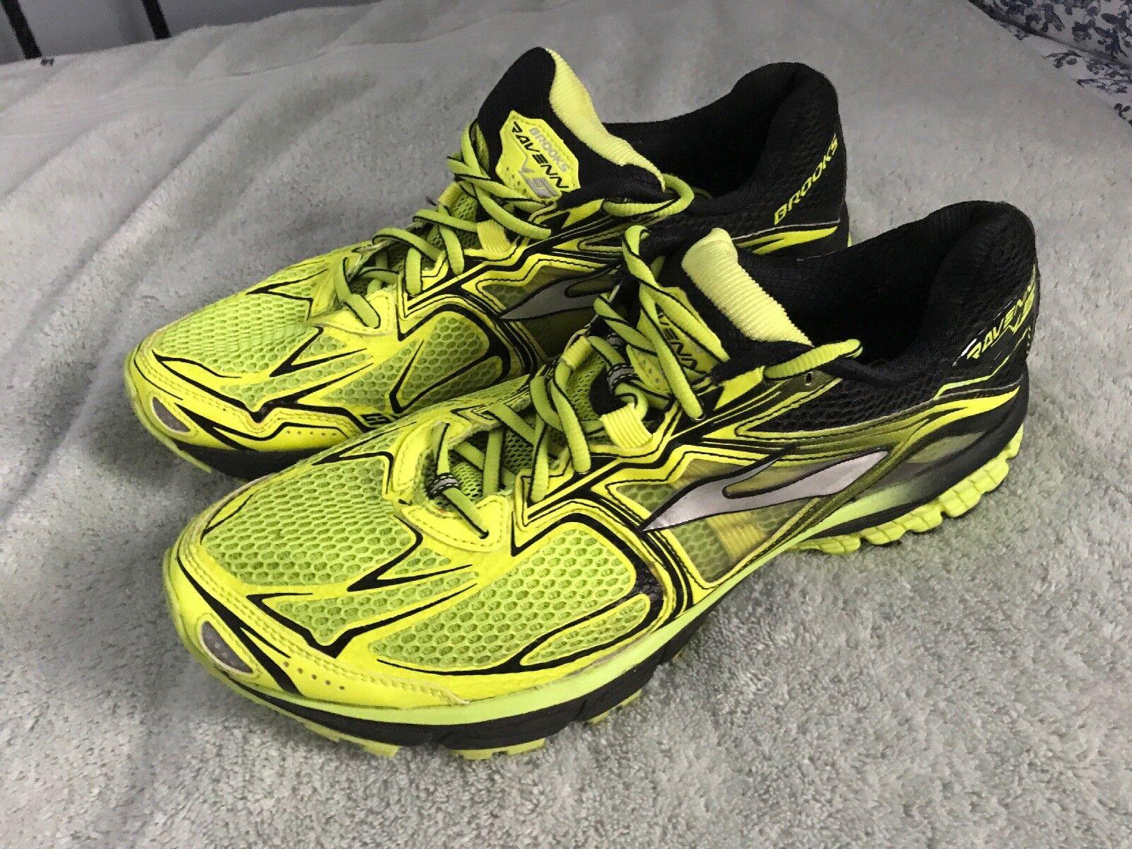 Brooks Avenna Sneaker - Men's Size 12 M, Black Neon Yellows SC8