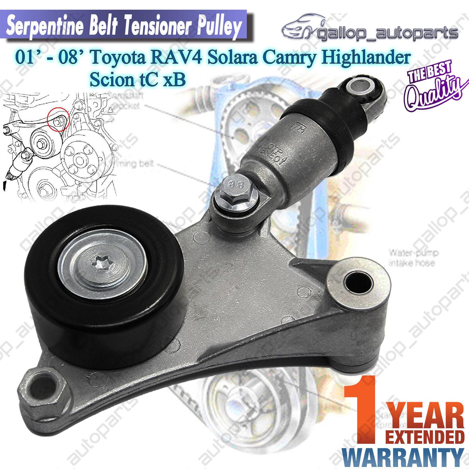 belt tensioner assembly toyota pulley rav4 camry. Black Bedroom Furniture Sets. Home Design Ideas