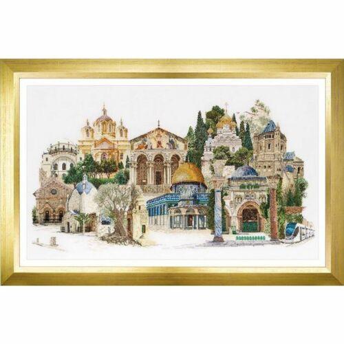 Thea Gouverneur 533  Jerusalem  Counted cross stitch kit  Linen 36 count