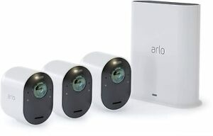 Arlo VMS5340-100NAR Ultra 4K UHD Wire-Free Security 3 Camera System - Certified