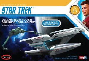 Polar-Lights-1-1000-Star-Trek-USS-Grissom-amp-Klingon-BoP-Plastic-Model-Set-POL957