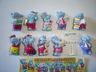 KINDER SURPRISE SET - HAPPY HIPPOS OFFICE COMPANY 1994 FIGURES COLLECTIBLES XMAS