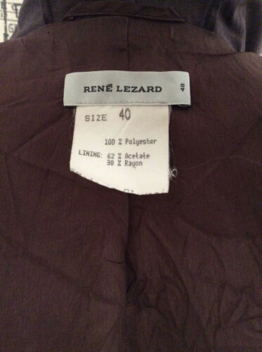Rain Rene 40 Size Coat Brown Lezard 88xrUqE7