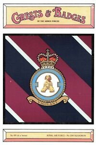 Postcard-RAF-Royal-Air-Force-No-208-Squadron-Crest-Badge-No-89-NEW