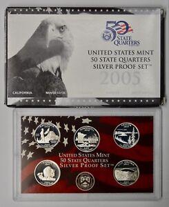 2007 S Proof State Quarter Set 90/% Silver Box /& COA 5 Coins US Mint