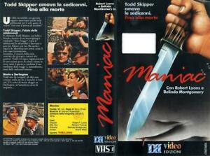 MANIAC-1971-DI-BARRY-SHEAR-RARISSIMA-VHS-HORROR-SLASHER-DBVIDEO-ORIGINALE-OTTIMA