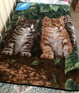 Millette Thick Fleece Cat Kitten Blanket Throw Warm Cozy 47x60 Ebay