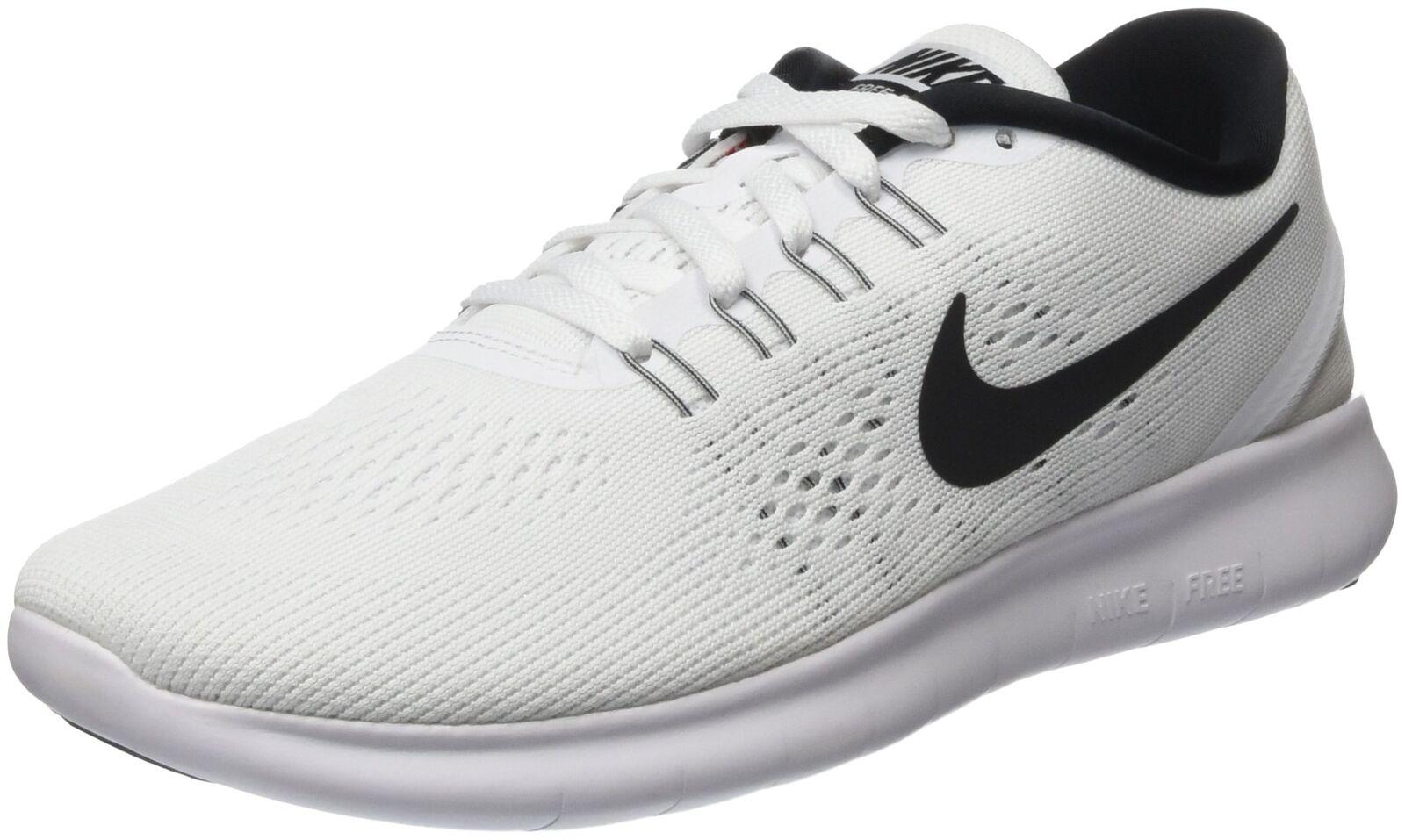 NIKE Men's Free RN Running Shoe White/Black 12 D(M) US