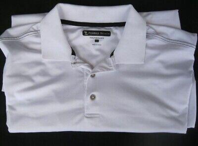Pebble Beach Polo >> Men S Xl White Golf Shirt Pebble Beach Polo Short Sleeve White Performance Ebay