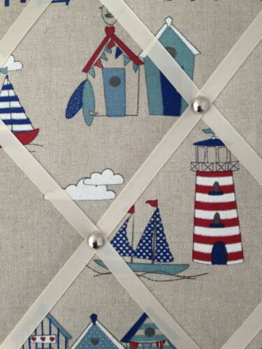 Beach Huts /& Lighthouse Coastal Theme MEMO MESSAGE PINBOARD LARGE NOTICE BOARDS