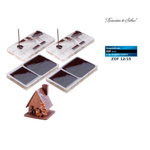 """Schoko Form Weihnachten 2er Pack 3D Schokoladen-Gussformen-Set /""""Weihnachtshaus/"""""""