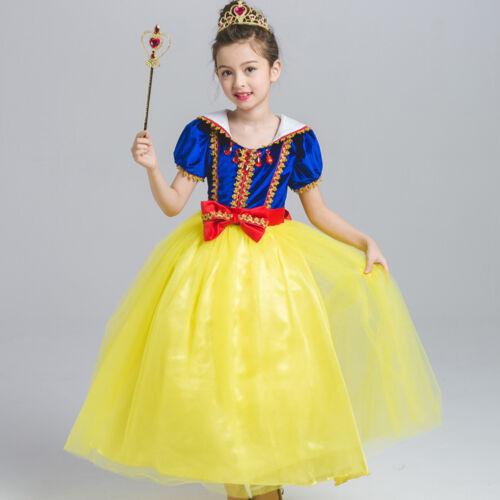 Girls Princess Snow White Costume Toddler Baby Kids Christmas Party Tutu Dress