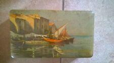 Scatola di latta biscotti LAZZARONI anni '60 - soggetto paesaggio dipinto