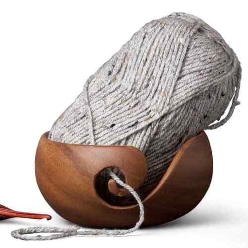 """:Wooden Yarn Bowl: Furls Rosewood 6/"""" diameter"""