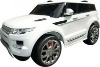 Range-rover Kids Sport Style 12v Electric Ride On Car Jeep- White With Chrome