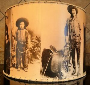 Cowboy lamp shade 16 x 16 western decor ebay image is loading cowboy lamp shade 16 034 x 16 034 mozeypictures Image collections