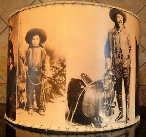 Cowboy lamp shade 16 x 16 western decor ebay image is loading cowboy lamp shade 16 034 x 16 034 mozeypictures Gallery
