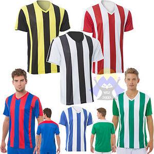 MAGLIA da CALCIO con SCOLLO a V Maglietta JHK T-shirt UOMO Italia BICOLORE Liga