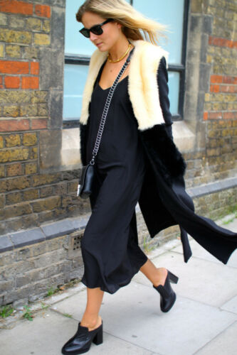Topshop £450 8 S Bnwt 10 amp; Real Uk Sheepskin Wool Maxi Coat Shearling Unique rqHB7r