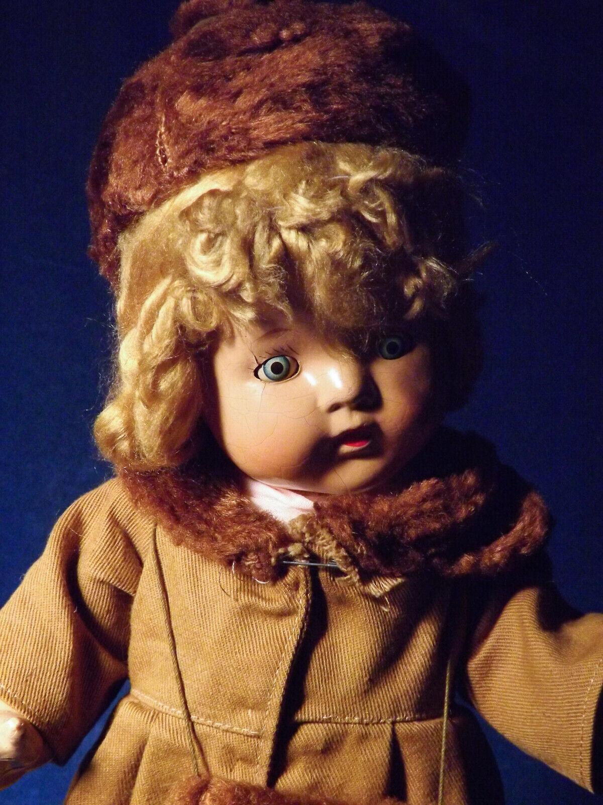 """ti aspetto Vtg Antique Mystery bambola tutti Composition Composition Composition 15"""" Sl Eyes Fantastic OOAK Outftit TLC  promozioni di sconto"""