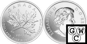 2011-039-Maple-Leaf-Forever-039-10-Silver-Coin-1-2oz-9999-Fine-12864-NT