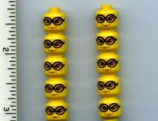 LEGO x 10 Yellow Minifig, Head Female Glasses with Orange Goggles Madame Hooch